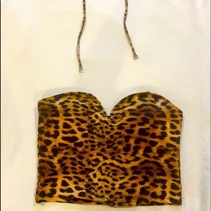 KJ Jaguar sweetheart swim top. (Encore line)